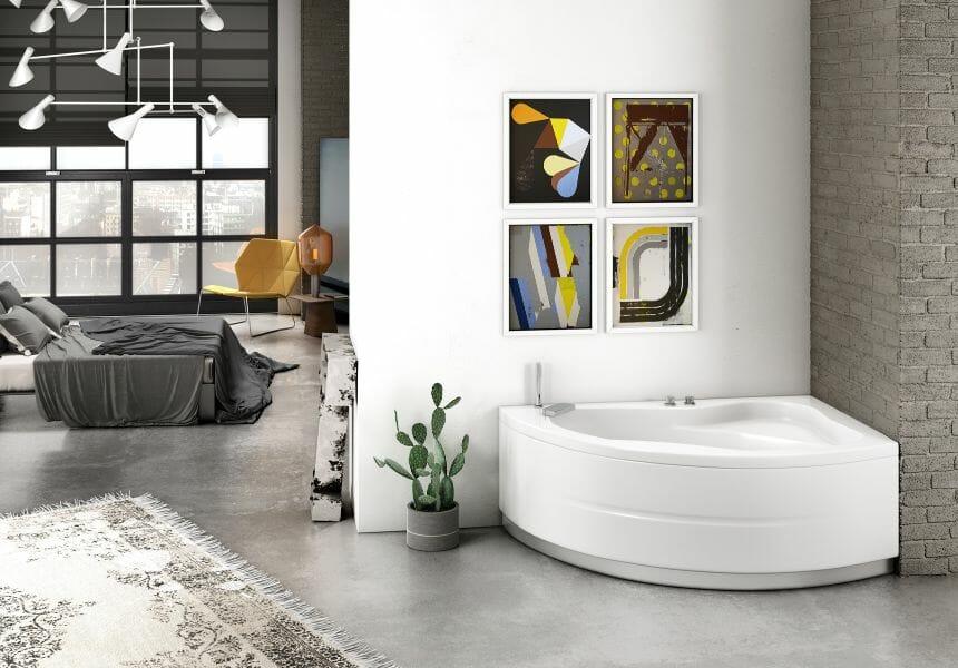 Vasca da bagno angolare