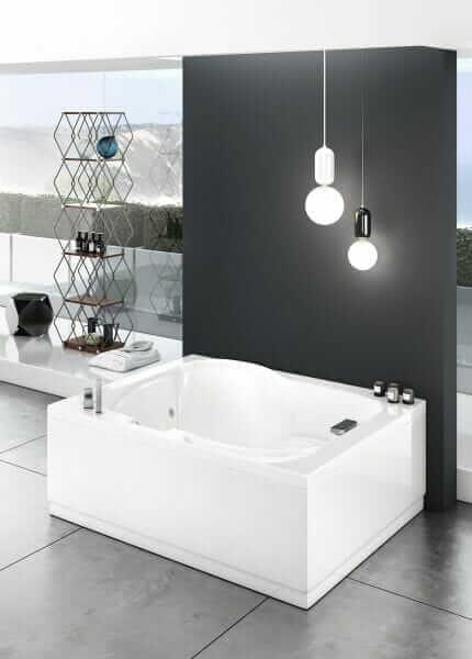 Vasca da bagno doppia 180x140