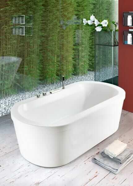 vasca da bagno centro stanza
