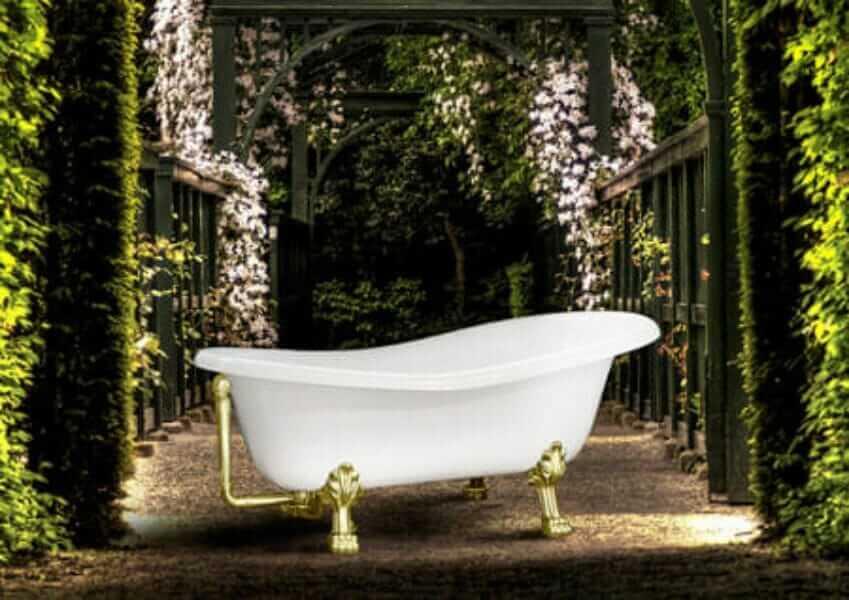 Vasca da bagno con piedini 170x70/80