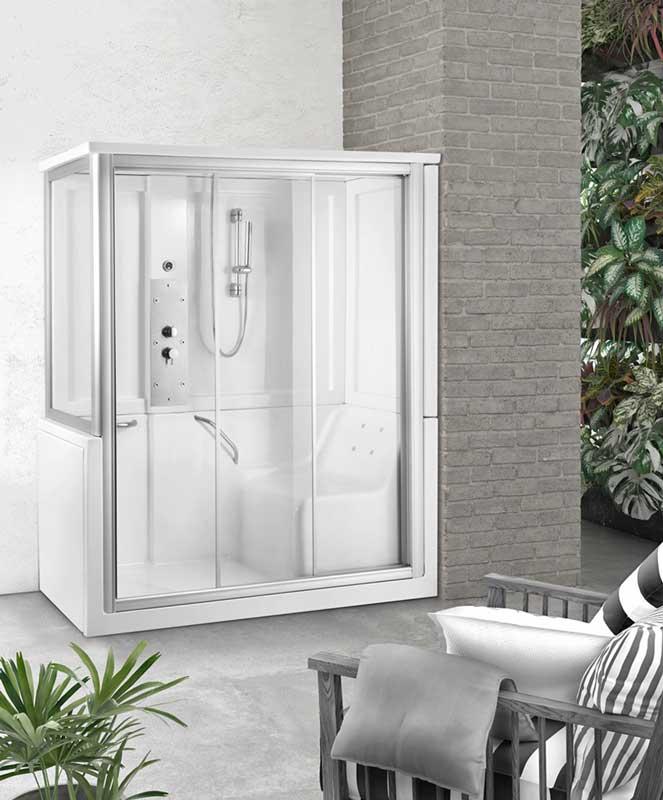 Box doccia con seduta Anziani Disabili